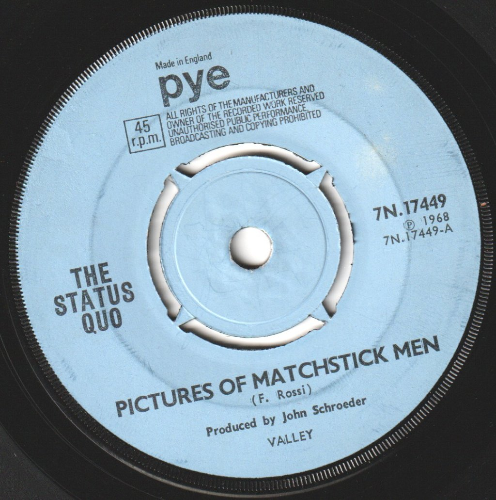 STATUS QUO - Pictures of Matchstick Men - 45T (SP 2 titres)