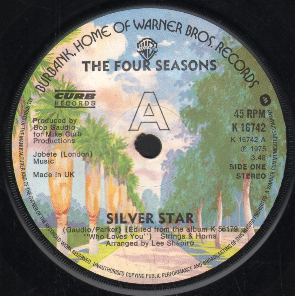 FOUR SEASONS - Silver Star - 45T (SP 2 titres)
