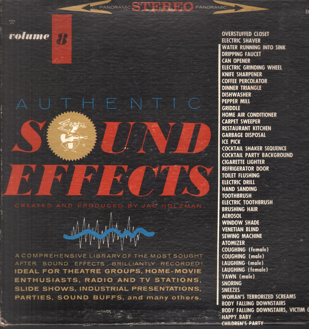 JAC HOLZMAN - Authentic Sound Effects Volume 8 - 33T