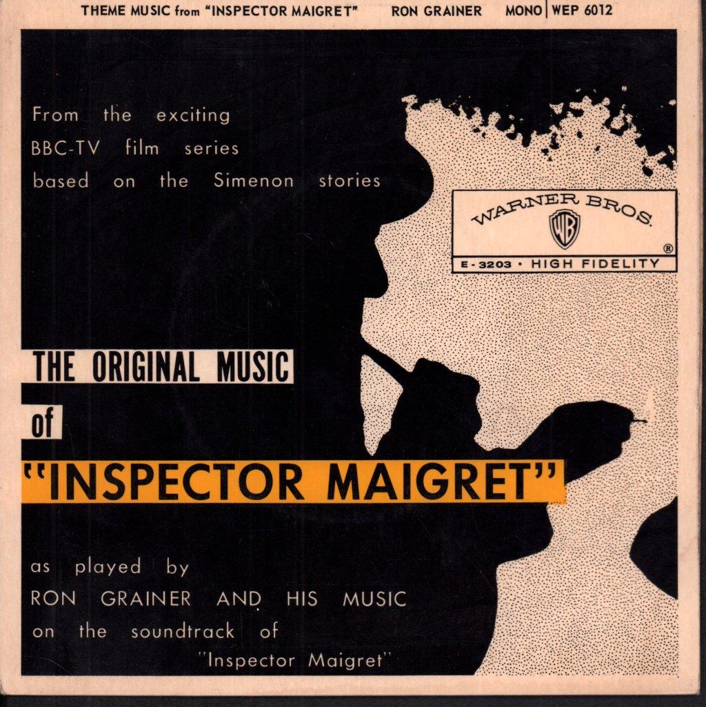 RON GRAINER ORCHESTRA - Original Music of Inspector Maigret - 45T (SP 2 titres)