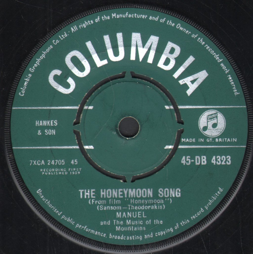 MANUEL AND THE MUSIC OF THE MOUNTAINS - Honeymoon Song - 45T (SP 2 titres)