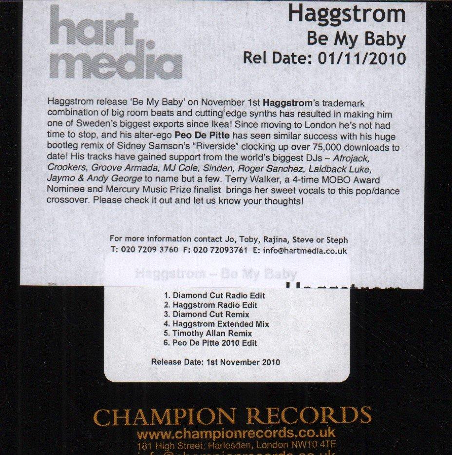 HAGGSTROM - Be My Baby - CD-ROM