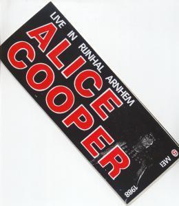 ALICE COOPER - Runhal Arnhem 5/5/88 - Sticker