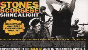 ROLLING STONES/MARTIN SCORSESE - Shine A Light - Sticker
