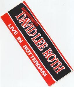 DAVID LEE ROTH - Rotterdam 13/12/88 - Sticker