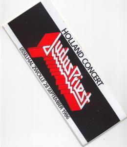 JUDAS PRIEST - Ijsselhal Zwolle 28/9/86 - Sticker