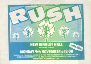 RUSH - New Bingley Hall Stafford - Poster / Affiche