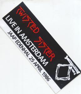 TWISTED SISTER - Jaap Edenhal Amsterdam 25/4/86 - Sticker