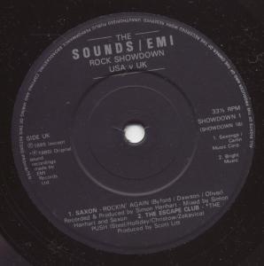 SOUNDS/EMI ROCK SHOWDOWN USA V UK - Various - 45T (SP 2 titres)