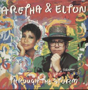 Aretha Franklin and Elton John Through the Storm