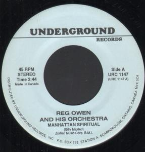 REG OWEN AND HIS ORCHESTRA / U.F.O.'S - Manhattan Spiritual / La La Means I Love You - 7inch (SP)