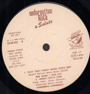 UNFORGOTTEN ROCK A SALUTE - Various - 45T (SP 2 titres)