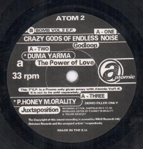 A BOMB VOL 2 E.P. - Various - 45T (SP 2 titres)