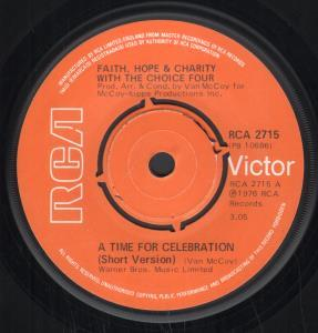 Faith Hope and Charity With the Choice Four A Time For Celebration