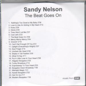 SANDY NELSON - Beat Goes On - CD-ROM