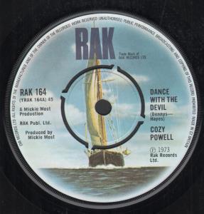 COZY POWELL - Dance With the Devil - 45T (SP 2 titres)