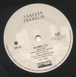 VANESSA FRANKLIN - My Mind - 7inch (SP)