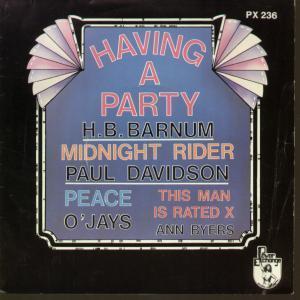 HAVING A PARTY - Various - 45T (SP 2 titres)