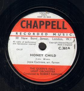 QUEEN'S HALL LIGHT ORCHESTRA - Honey Child - 25 cm