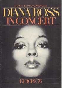 DIANA ROSS - In Concert - Europe 76 - Concert Program