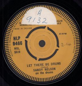 SANDY NELSON - Let There Be Drums - 7inch (SP)