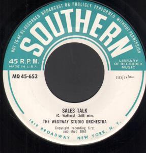 WESTWAY STUDIO ORCHESTRA - Sales Talk - 45T (SP 2 titres)