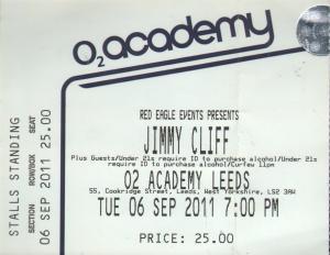 JIMMY CLIFF - O2 Academy Leeds 06 September 2011 - Place concert / soirée