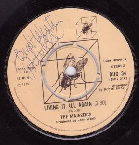 MAJESTICS (70'S) - Living It All Again - 45T (SP 2 titres)