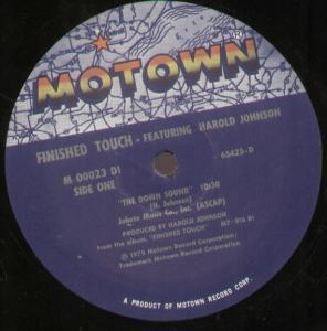 FINISHED TOUCH FEATURING HAROLD JOHNSON - Down Sound - 12 inch 45 rpm