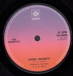 MAJESTICS (70'S) - Sweet Regrets - 45T (SP 2 titres)