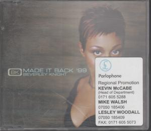 BEVERLEY KNIGHT - Made It Back '99 - CD