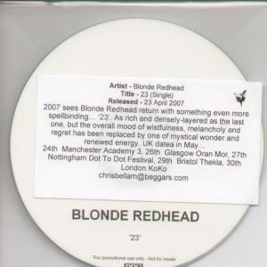 redhead 23 lyrics blonde