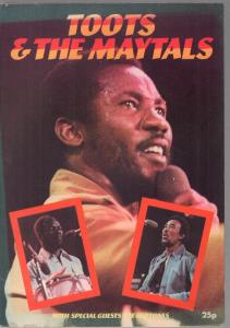 TOOTS AND THE MAYTALS/HEPTONES - 1976 Programme - Concert Program