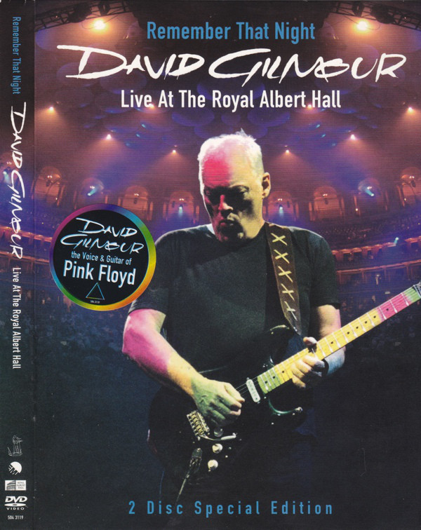 DAVID GILMOUR - Remember That Night Live At the Royal Albert Hall - DVD x 2