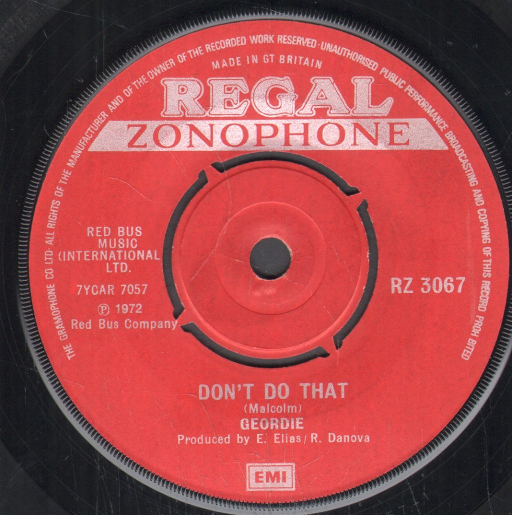 GEORDIE - Don't Do That - 45T (SP 2 titres)
