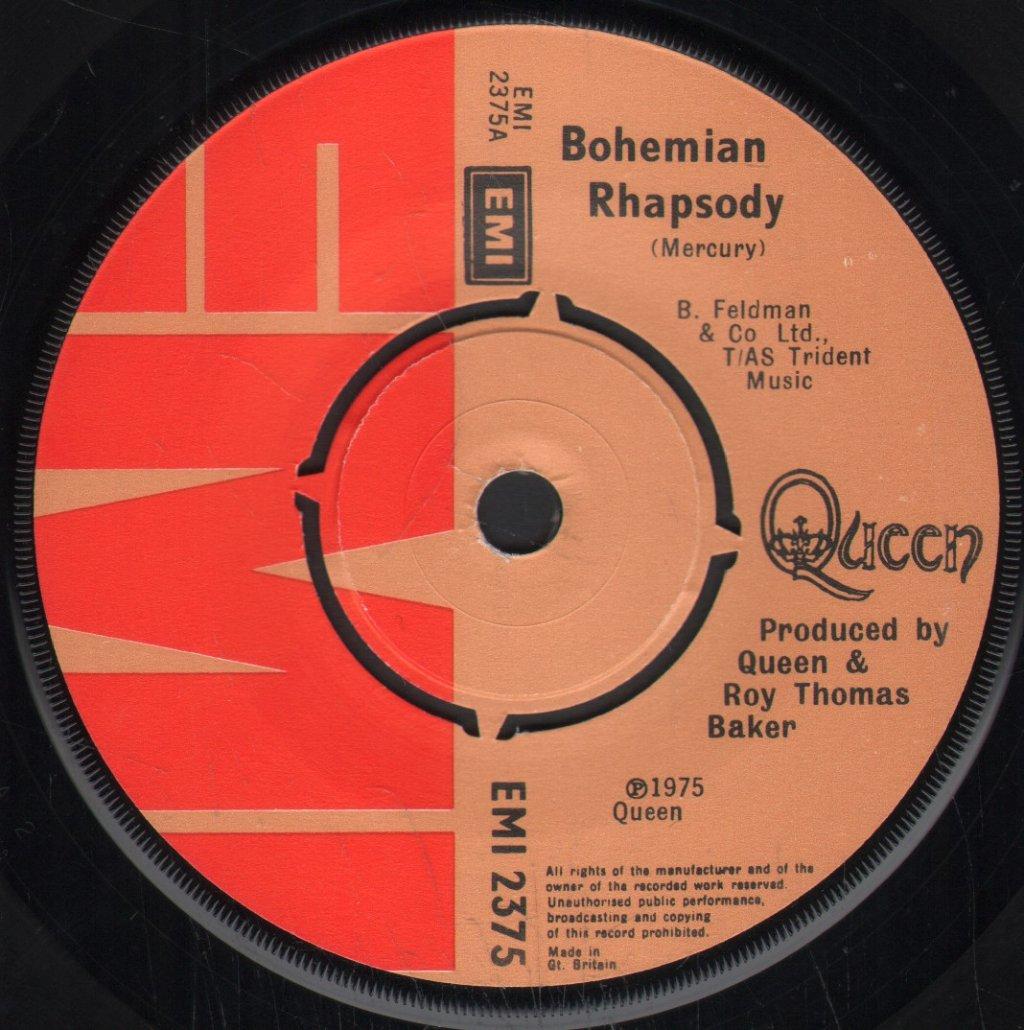 QUEEN - Bohemian Rhapsody - 45T (SP 2 titres)