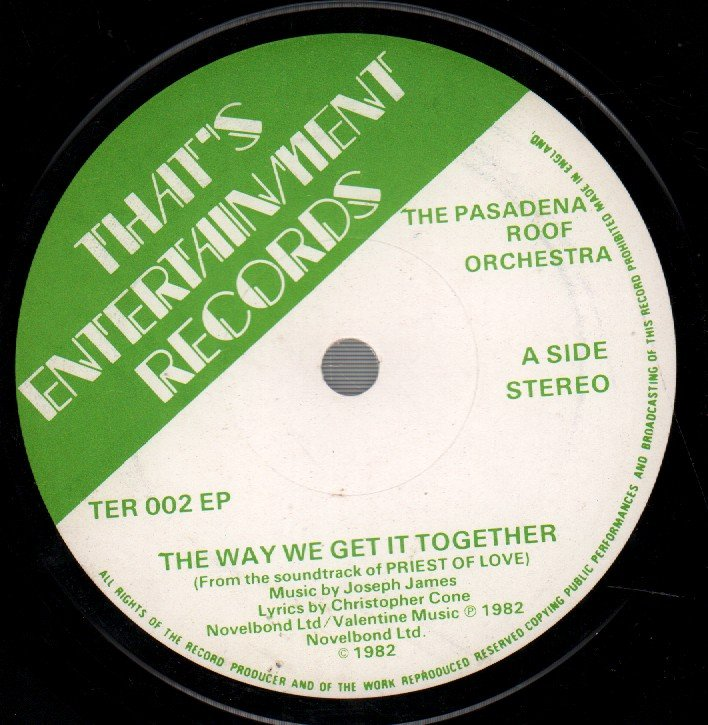 PASADENA ROOF ORCHESTRA - Way We Get It Together - 45T (SP 2 titres)