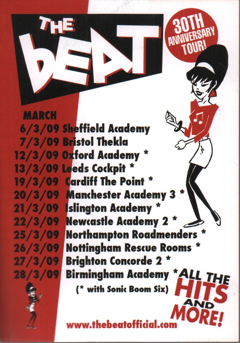 BEAT - 30th Anniversary Tour - Poster / Display